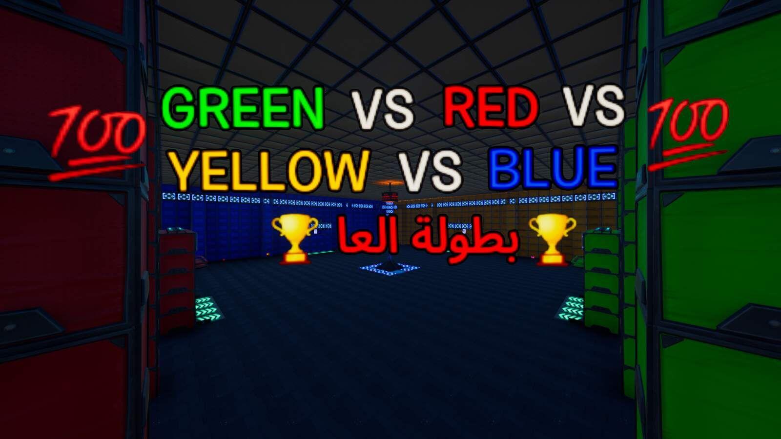 GREEN VS RED VS YELLOW VS BLUE 5706-3622-4365 by zaze